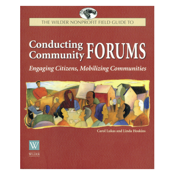 """Book cover: Conducting Community Forums. 7"""" x 9"""", softcover, 112 pages, $29.95"""