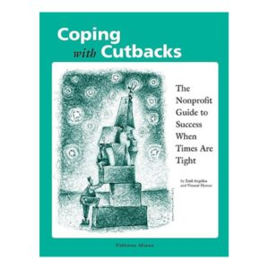 "Book cover: Coping with Cutbacks, 8-1/2"" x 11"", 111 pages, $27.95"